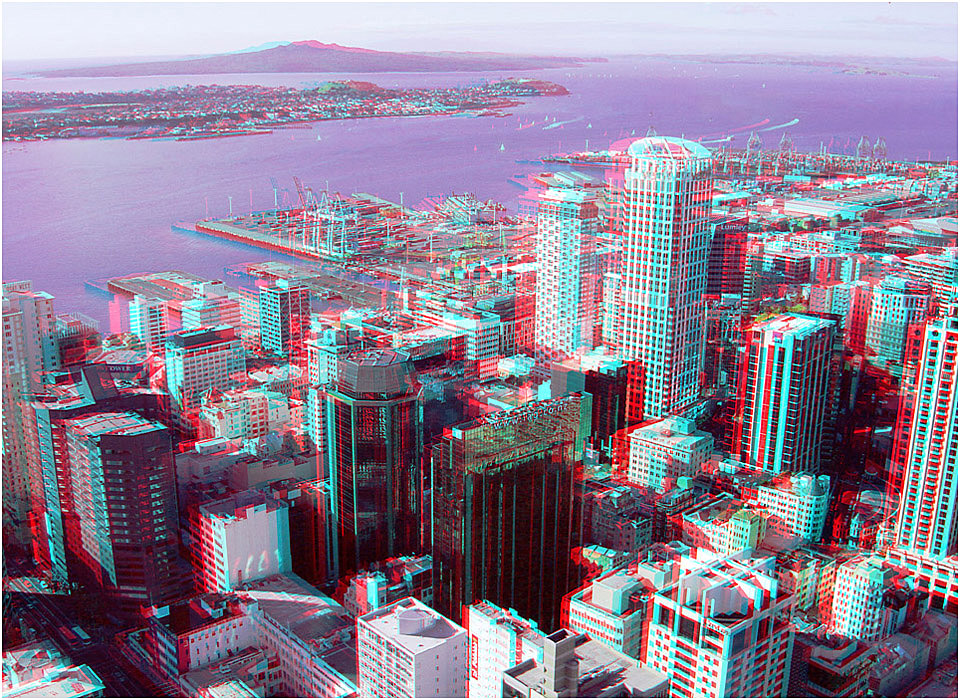 Auckland City Harbour. Digital 3-D Photography by Marc Dawson.