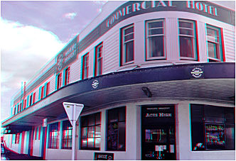 The Commercial Hotel Te Awamutu. Home of the Ascott Bar. 3-D Photography by Marc Dawson.