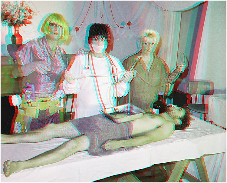 The Embalming Scene. 3-D Photography by Marc Dawson.