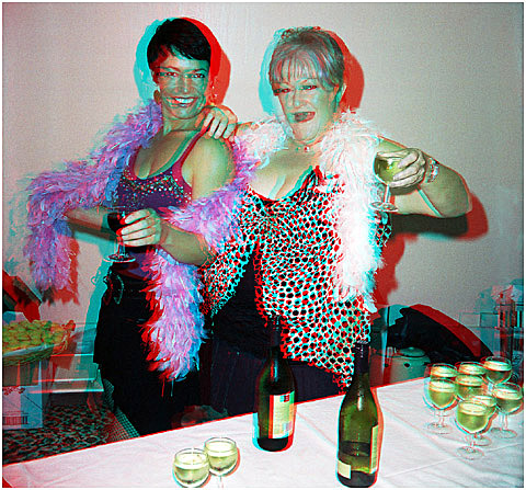 You are welcomed by hookers Anne Crofskey and Doreen Marshall. 3-D Photography by Marc Dawson.