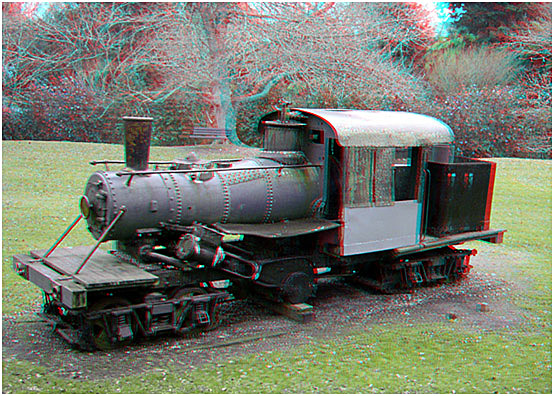 The Climax Engine in state the day prior to its removal. 3-D Photography by Marc Dawson.