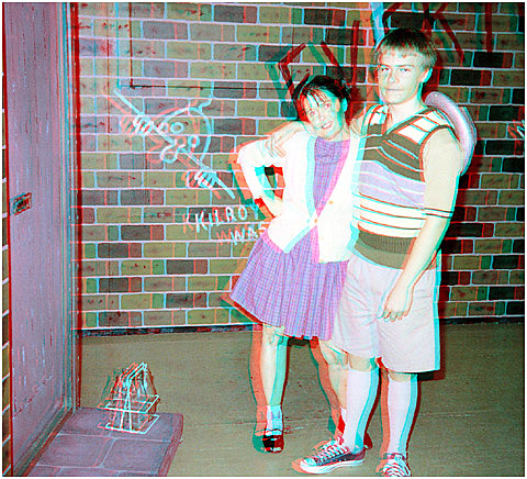 Two of the seven Johnstone kids. 3-D Photography by Marc Dawson