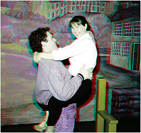 Mickey and Linda in happier days. 3-D Photography by Marc Dawson