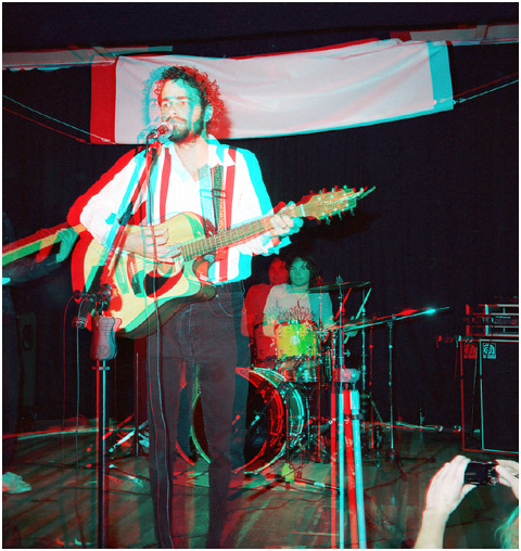 Nathaniel Lee and the Old Porch Tints. 3-D Photography by Marc Dawson.