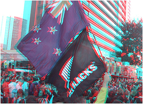 The view from the stalled que on Quay Street. Digital 3-D Photography by Marc Dawson.