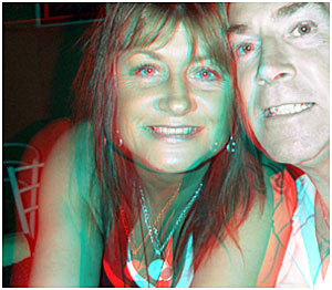 Song Writers Rhonda and Chris Johnson. 3-D photography by Chris Johnson.
