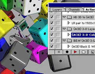 Select '(ACB) 3-D Layer pair' and click play
