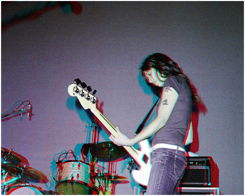 Mareea Paterson on Bass. Matt Eccles on Drums. 3-D Photography by Marc Dawson.