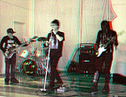 MediaTote rip up the stage in Pirongia. 3-D Photography by Marc Dawson.